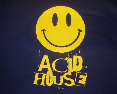 Mens retro rave smiley face acid house t shirt  2  41 p